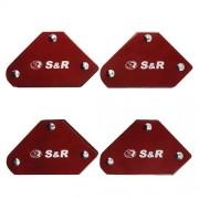 Комплект магнитных угольников для сварки S&R 4шт. (290104005)